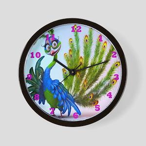 Prissy Peacock Wall Clock