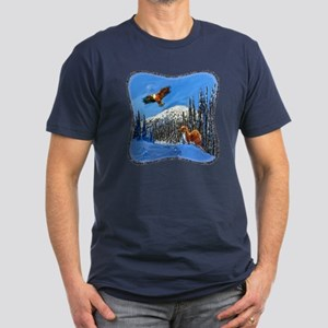 Eagle and Weasel Men's Fitted T-Shirt (dark)