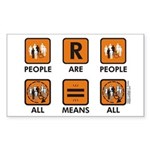 People Are People Rectangle Sticker