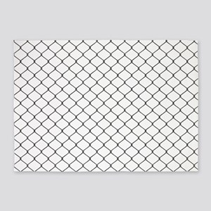 Chain Link Fence 5'x7'Area Rug