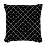 Chain Link Fence Woven Throw Pillow