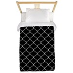 Chain Link Fence Twin Duvet