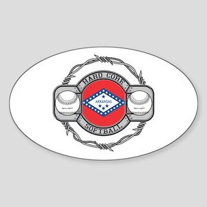 Arkansas Softball Sticker (Oval)