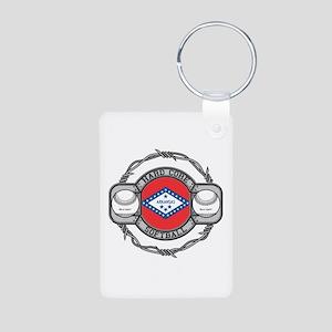 Arkansas Softball Aluminum Photo Keychain