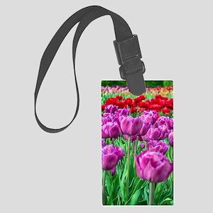 Tulip Field Luggage Tag