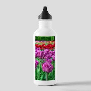 Tulip Field Water Bottle