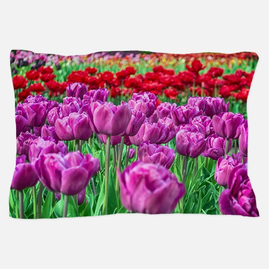 Tulip Field Pillow Case