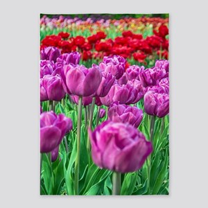 Tulip Field 5'x7'Area Rug