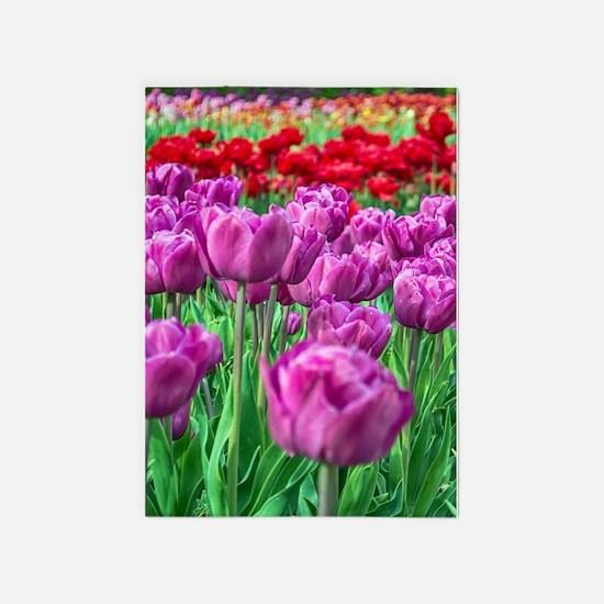 Tulip Field 5'x7'Area Rug