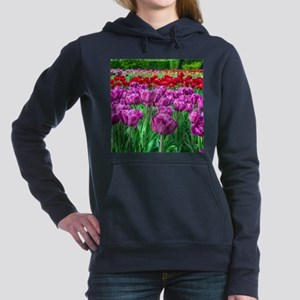 Tulip Field Women's Hooded Sweatshirt