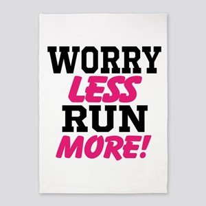 Worry Less Run More 5'x7'Area Rug