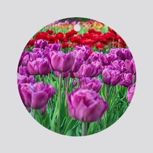 Tulip Field Ornament (Round)