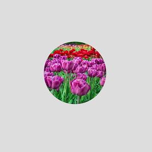 Tulip Field Mini Button