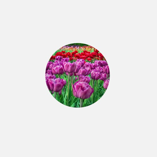 Tulip Field Mini Button