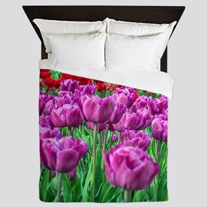 Tulip Field Queen Duvet