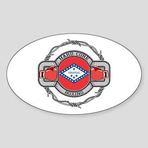 Arkansas Boxing Sticker (Oval)