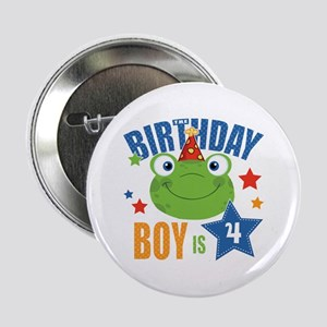 "Birthday Frog 2.25"" Button"