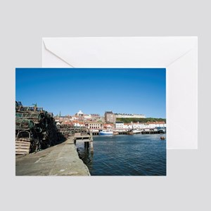 Whitby fishing port Greeting Card