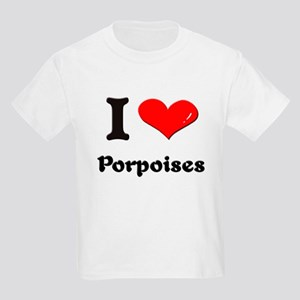 I love porpoises Kids Light T-Shirt