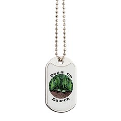 Peas On Earth Dog Tags