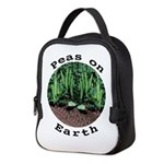 Peas On Earth Neoprene Lunch Bag