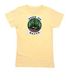 Peas On Earth Girl's Tee