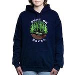 Peas On Earth Women's Hooded Sweatshirt