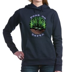 Peas On Earth Women's Hooded Sweatshirt