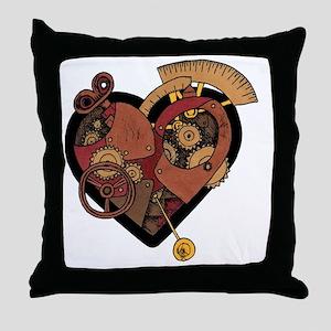 ClockworkHeart Throw Pillow