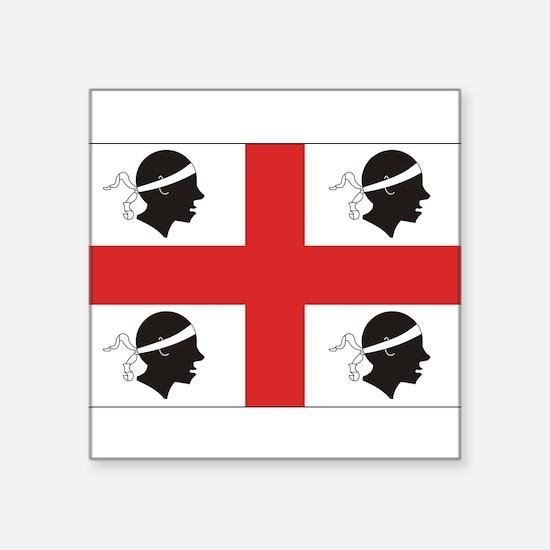 "Cute Sardinia Square Sticker 3"" x 3"""