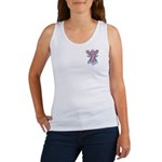 Pink Ribbon with Roses Women's Tank Top
