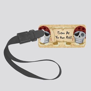 ENTER AT YE OWN RISK Small Luggage Tag