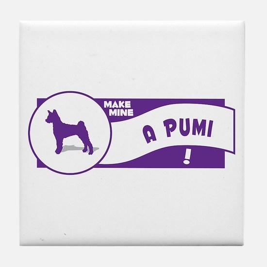 Make Mine Pumi Tile Coaster