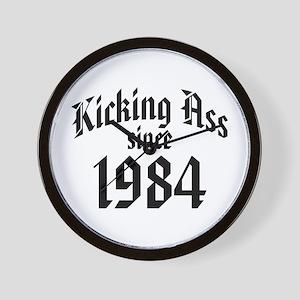 Kicking Ass 1984 Wall Clock