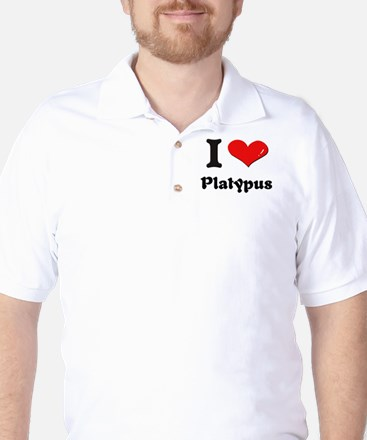 I love platypus Golf Shirt