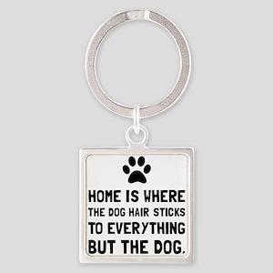 Dog Hair Sticks Keychains