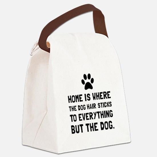 Dog Hair Sticks Canvas Lunch Bag