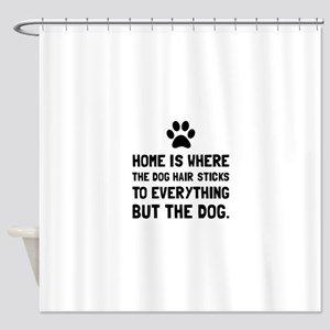 Dog Hair Sticks Shower Curtain