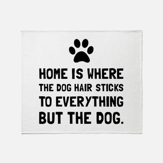 Dog Hair Sticks Throw Blanket