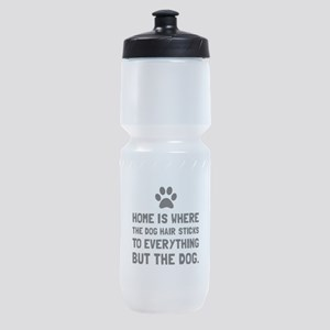 Dog Hair Sticks Sports Bottle