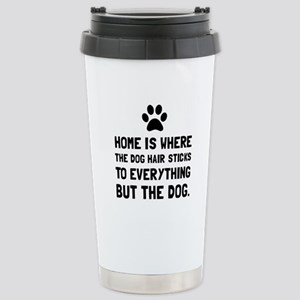 Dog Hair Sticks Travel Mug