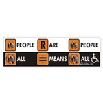 People Are People Bumper Sticker