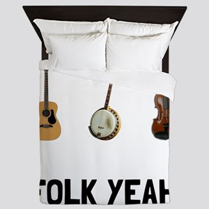 Folk Yeah Queen Duvet