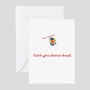 Jenny on the job likes girls Greeting Cards (Packa
