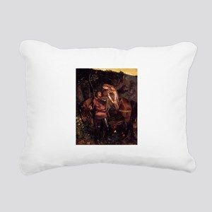La Belle Dame Sans Merci Rectangular Canvas Pillow