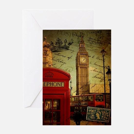 london landmark red telephone booth Greeting Cards