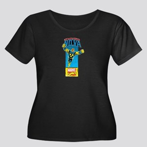 Flying N Women's Plus Size Scoop Neck Dark T-Shirt