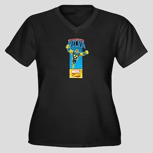 Flying Nova Women's Plus Size V-Neck Dark T-Shirt