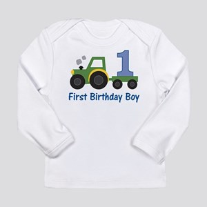 1st Birthday Tractor Long Sleeve Infant T-Shirt