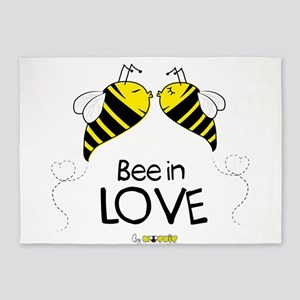 Bee in love 5'x7'Area Rug